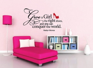 ... Quotes and Sayings Pictures for Girls Pink Bedroom Wall Stickers