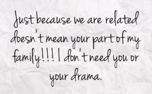 Family Drama Facebook Quotes