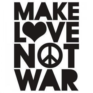 TShirtGifter presents: MAKE LOVE NOT WAR
