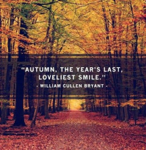 ... don't like autumn but this quote by William C. Bryant helps somehow