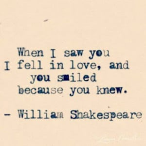 shakespeare quotes love at first sight
