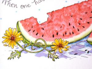 Watermelon Kitchen Art. Summer Quote Print. Mark Twain