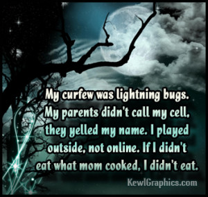 My Curfew was Lightning bugs Facebook Graphic