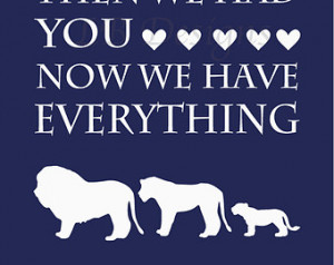 Navy Blue and White Lion/Jungle Nur sery Quote Print - 8x10 ...
