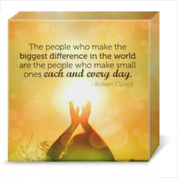 inspirational quote canvas art volunteers