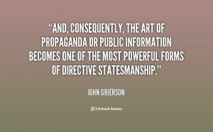The oblique paradox of propaganda is that the lie in the throat ...