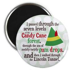 Candy Cane Forest Quote Magnet for