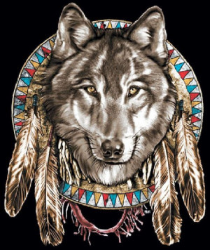 Native American Indian Jumbo Wolf Head and by firelandsteeshirts, $14 ...