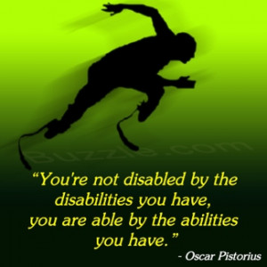 Inspirational Quotes For Disabled Athletes