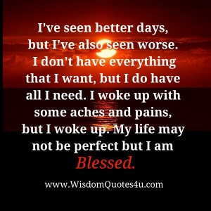 Every new day is a blessing for us. Thank God for each brand new day.