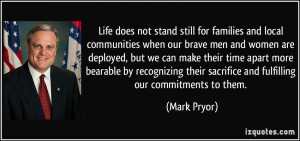 Life does not stand still for families and local communities when our ...