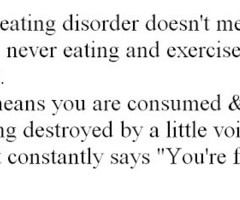 Eating Disorder Quotes Tumblr Eating disorder