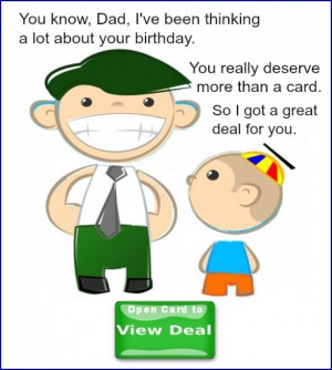 Funny Dad Birthday Card from Kid