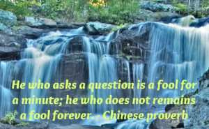 beautiful Chinese proverb on seeking knowledge.