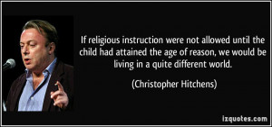 instruction were not allowed until the child had attained the age ...