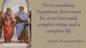 Aristotle Nicomachean Ethics Happiness Virtue and Life
