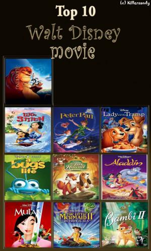 Top 10 Disney Movies by MakiTokito