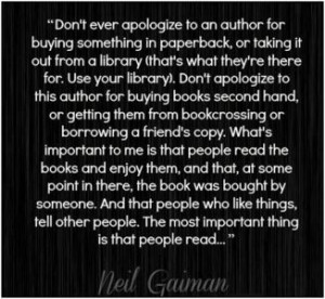neil gaiman quote important people read. I love this guy.