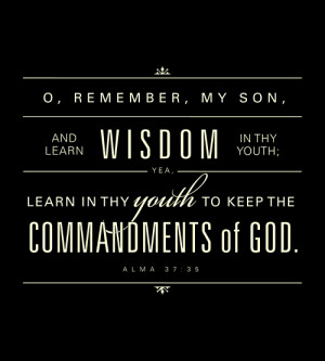 This is the LDS Primary memorization scripture for March 2012.