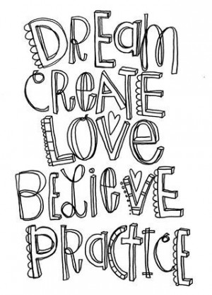 doodle for YOU to color and a little inspiration to