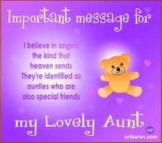 Special Aunt Quotes | Card with Poem for lovely aunt More