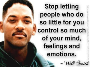 Stop letting others control you