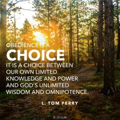 Choice, Lds Quotes, Obedience, Toms Perry, Inspiration Thoughts, Lds ...