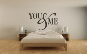 You & Me Wall Stickers Love Quotes Wall Quotes Wall Art Decal ...