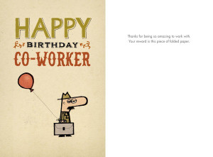 funny happy birthday co worker
