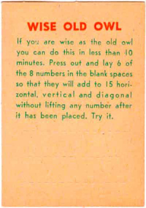 The Wise Old Owl Puzzle