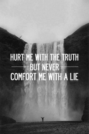 Life Quotes, Truths Hurts, Inspiration, Be Lying To, Wisdom, Lying To ...