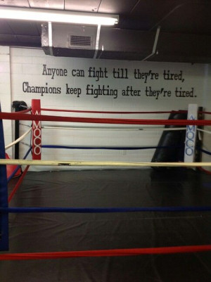 Not necessarily boxing but in anything