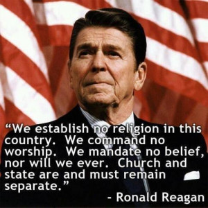 We establish no religion in this country. We command no worship. We ...