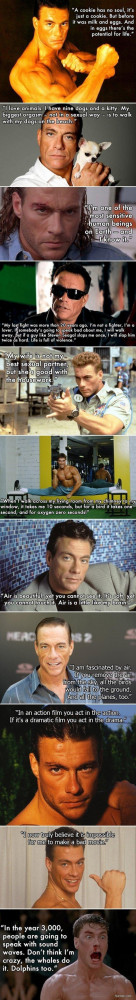 Jean-Claude Van Damme quotes.