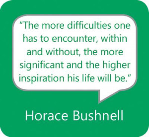 The more difficulties one has to encounter, within and without, the ...