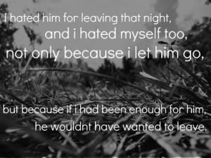 Letting Him Go Quotes Tumblr Letting him go