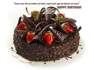 cake happy birthday with quotes hd wallpaper