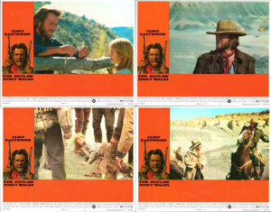 Outlaw Josey Wales The Original US Lobby Card Set Of 8
