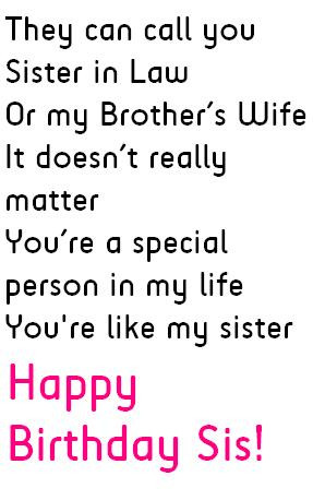 Sister in Law Birthday Quotes, Messages and Wishes