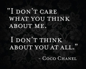 Do you care what others think?