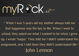 John Lennon Quotes Happiness