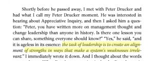 Peter Drucker On Strengths and Leadership