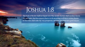 Bible Verses Blessings Joshua 1:8 Ocean HD Wallpaper