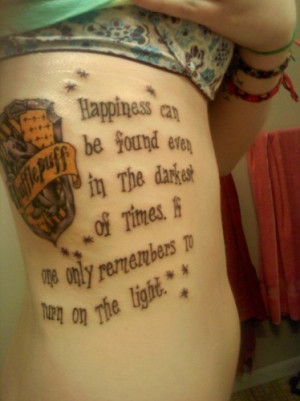 -related section as our missing Hufflepuff tattoo, but the quote ...