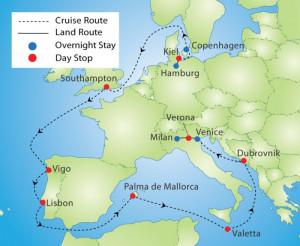 Grand European Cruise And...