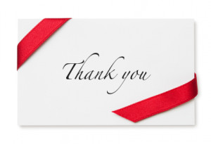 ThankYou Note with Ribbon