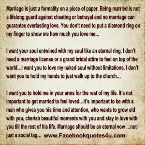 Cheating Marriage Quotes Marriage is just a formality