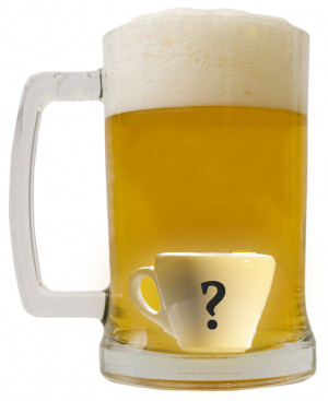 Coffee Beer question mark 32Cup