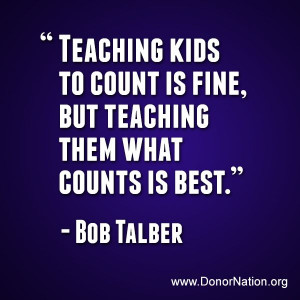 Teaching kids to count is fine, but teaching them what counts is best ...