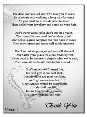 Wedding Gift Poems Asking For Money For Home Improvements : Quotes To Ask For Donations. QuotesGram